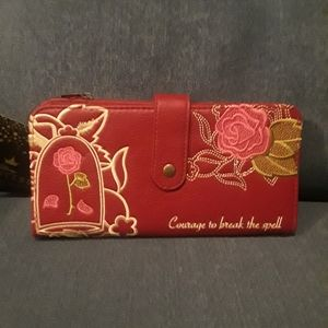 NWT Disney Belle Wallet Maroon